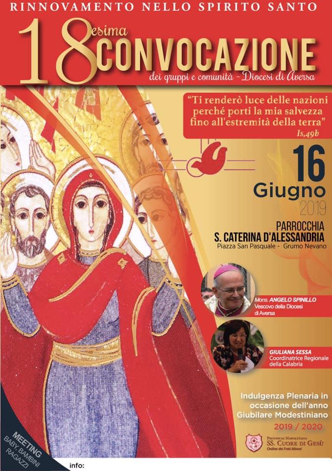 16 Giugno 2019 – Convocazione Diocesana RnS Aversa